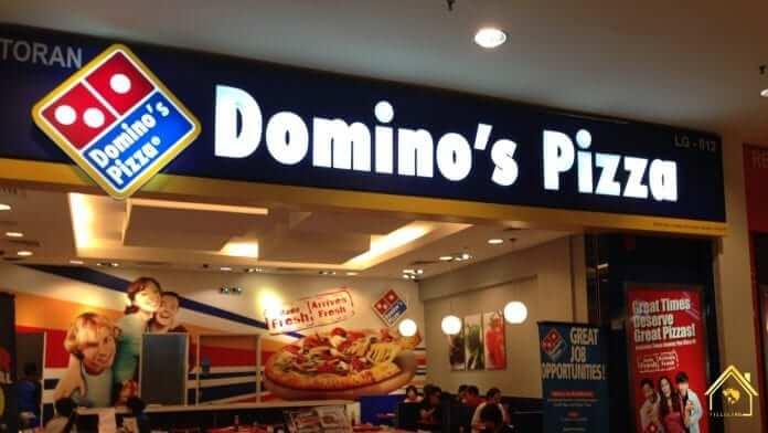 Cửa hàng Domino's Pizza trong một trung tâm thương mại lớn ở Texas